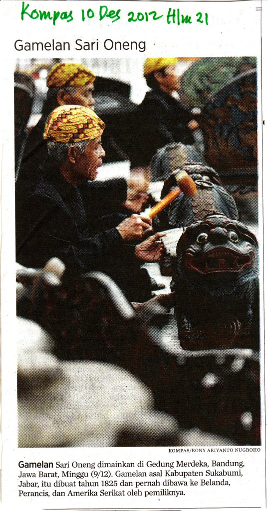 gamelan Sunda Sari Oneng | beritawayang